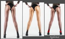Luxury Sheer To Waist Seamed Pantyhose / Tights - 3 Pair Pack